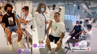 Les joueurs l'ont partagé sur Instagram. Instagram/marcelotwelve/lucasvazquez91/rodrygogoes