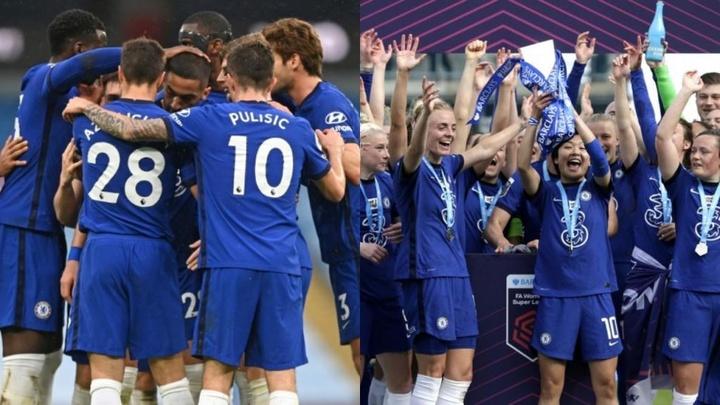 Chelsea pourrait réussir un doublé historique. AFP/Twitter/ChelseaFCWomen