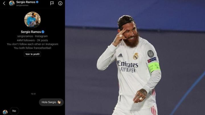 Ramos puso punto y final a su etapa en el Madrid tras 16 años. Twitter/FBBP01/EFE