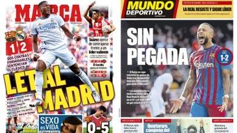 Capaz de imprensa desportiva 25 de Outubro de 2021. Marca-Mundo Deportivo