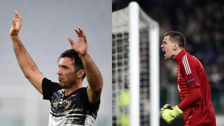 Buffon se fue de la Juve porque se negó a ser suplente un Szczesny inferior. Montaje/AFP