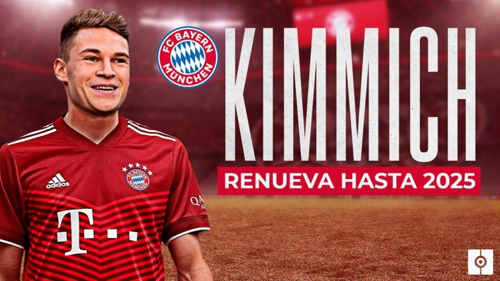 Joshua Kimmich has extended his contract with Bayern Munich until 2025. BeSoccer