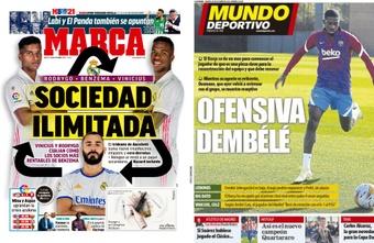 Capas da imprensa desportiva 26 de outubro de 2021.Mundo Deportivo/Marca