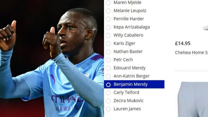 Mendy's name appeared on Chelsea's club website. AFP/Captura/Mirror