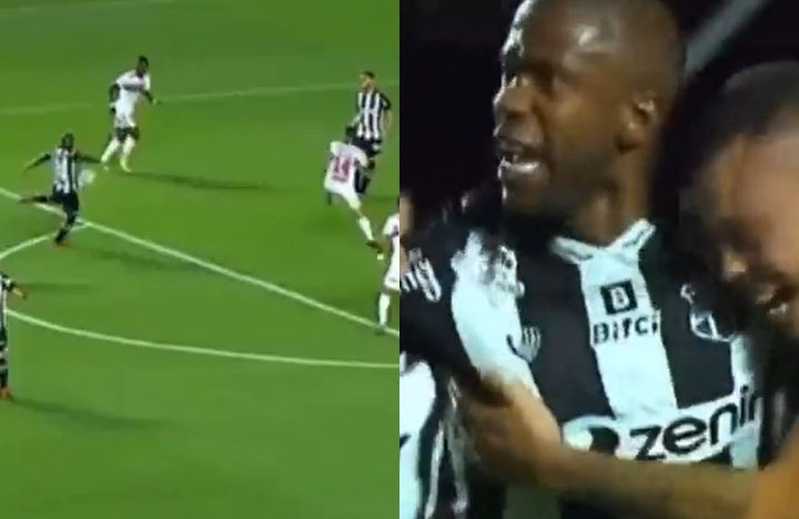 Fabinho metió un golazo en el Sao Paulo-Ceará. Captura/Fanatiz