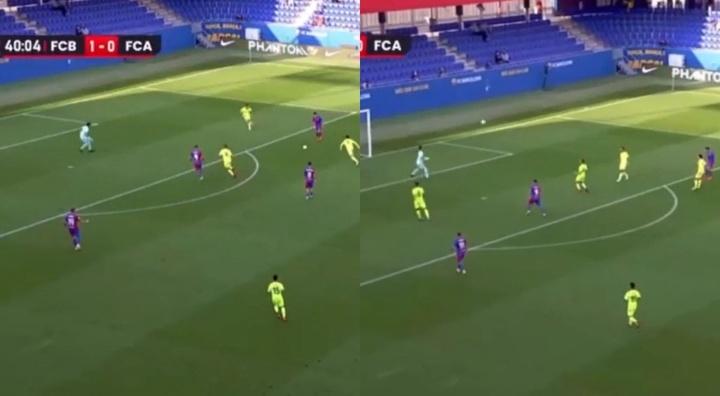 Jutglá anotó un golazo ante el Andorra. Captura/RFEF