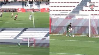 Nico Serrano sentenció el partido con un golazo. Capturas/Twitter/AthleticClub