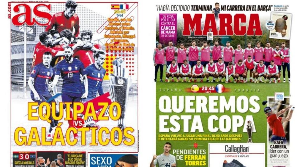 As capas da imprensa de 10 de outubro de 2021. Montagem/AS/Marca