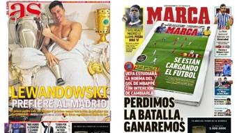 As capas da imprensa de 16 de outubro de 2021. Montagem/AS/Marca