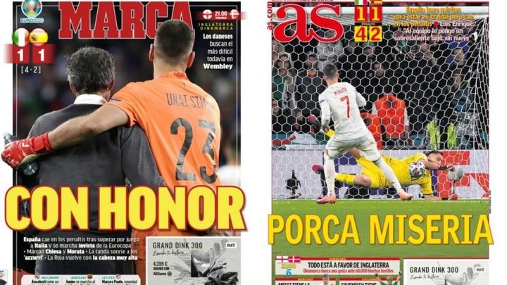 As capas da imprensa esportiva de 7 de julho de 2021. Montagem/Marca/As