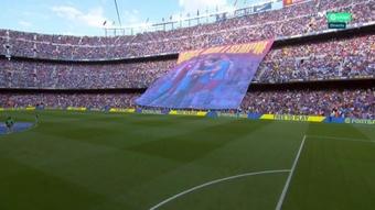 The Camp Nou was at full capacity. Screenshot/movistarlaliga