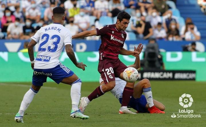 Zaragoza y Real Sociedad empataron. LaLiga