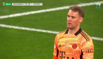 El 'Gladbach le metió tres al Bayern en 20 minutos. Captura/Vamos