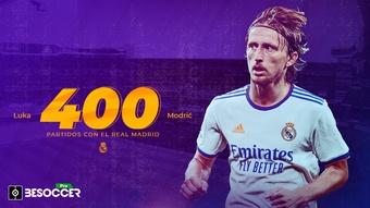 Modric cumple 400 partidos con el Real Madrid. BeSoccer Pro