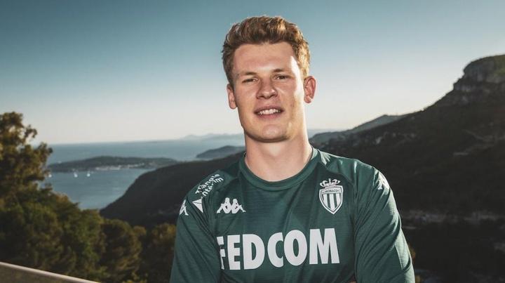 El Mónaco se hizo con la cesión de Nübel hasta junio de 2023. Twitter/AS_Monaco_ES
