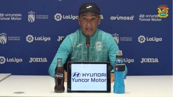 Oltra analizó el partido contra el Lugo. Captura/Youtube/CFFuenlabrada