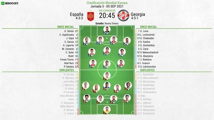 El España-Georgia, en directo. AFP