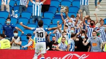 Oyarzabal garante os primeiros pontos da Real Sociedad. AFP