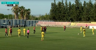 El UCAM Murcia pierde su segundo amistoso del verano. Captura/UCAMCF