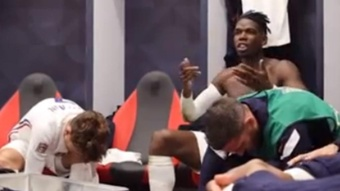 Le discours de Pogba pendant la mi-temps de la finale. Capture/FFF