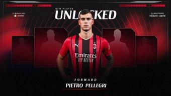 Pietro Pellegri é o novo reforço do ataque do Milan. ACMilan