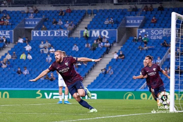 Pitta marcó un doblete para el triunfo de la SD Huesca. LaLiga