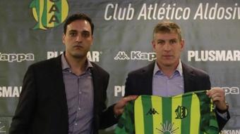 Palermo, nuevo entrenador de Aldosivi. Twitter/clubaldosivi