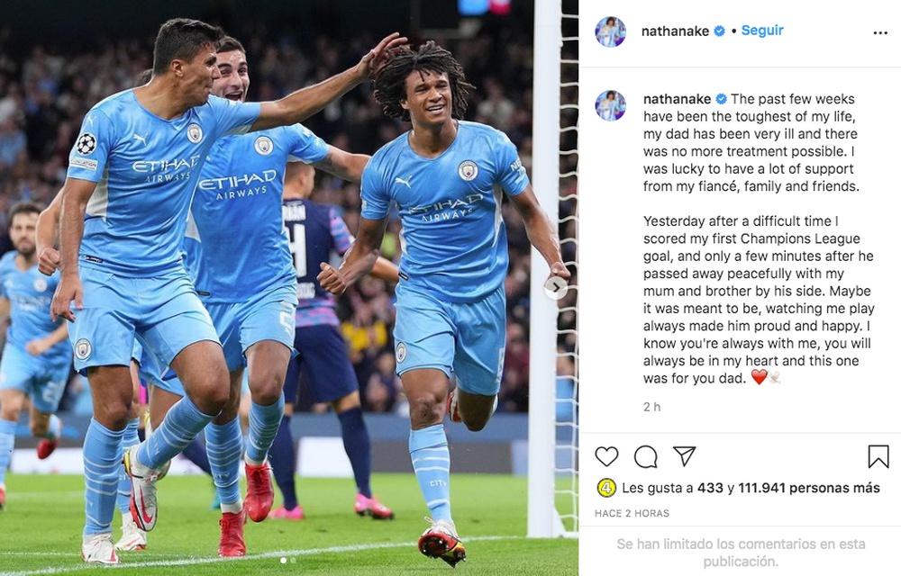 Nathan Aké recordó a su fallecido padre. Captura/Instagram/nathanake