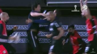 Red Bull Bragantino se impuso por 1-0 ante Rosario Central. Captura/Youtube/CONMEBOLSudamericana