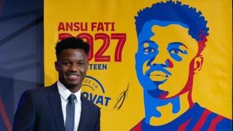 La rueda de prensa de Ansu Fati, en directo. EFE