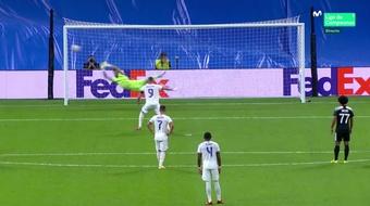 Benzema empató el partido en el segundo tiempo. Captura/MovistarLigaDeCampeones