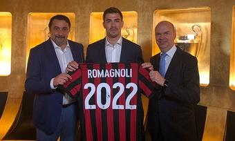 Romagnoli, tras renovar con el Milan hasta 2022. ACMilan. EFE