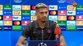 Araujo repasó la actualidad del Barcelona. Captura/FCBarcelona