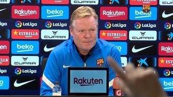 Koeman espera llevarse los tres puntos del 'Clásico'. Captura/BarçaTV