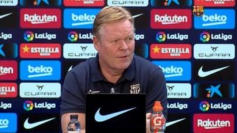 Koeman falou sobre o duro jogo contra o Valencia de domingo. Captura/BarçaTV