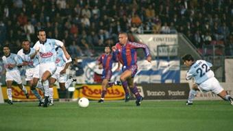 Ronaldo anotó su gol más memorable en el Multiusos de San Lázaro. EFE/Archivo