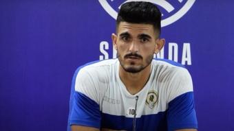 Sandro Toscano no podrá jugar más en este curso por una lesión en la rodilla. Captura/ HérculesCF