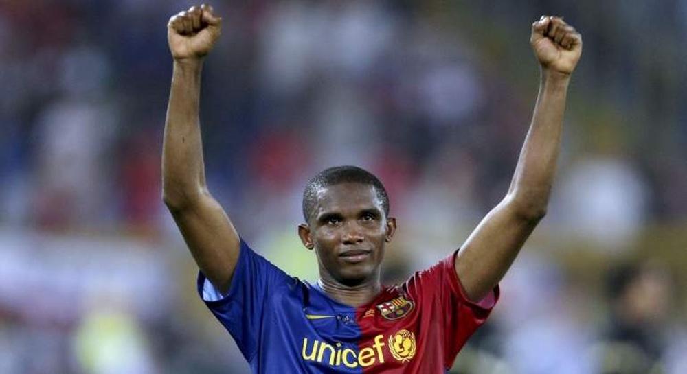 Samuel Eto'o : Le Barça me fait souffrir dernièrement. efe