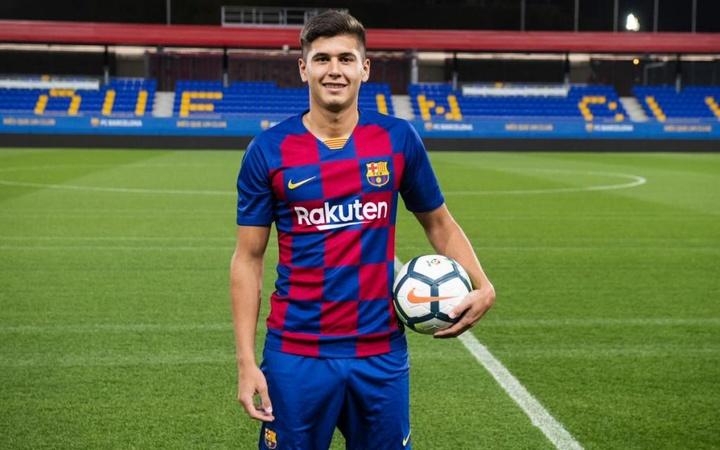 El Barça rechazó una oferta por Ramos Mingo. Twitter/FCBarcelonaB