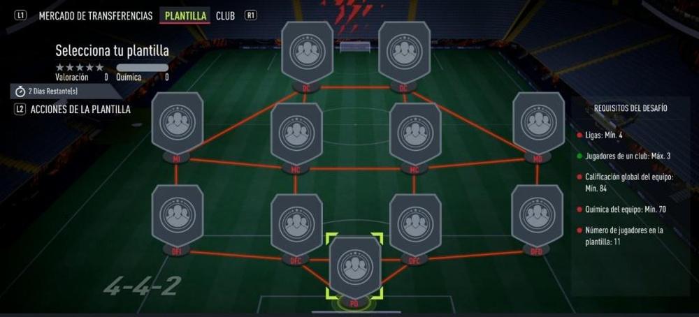 SBC 'Elabora tu plantilla' de FIFA 22. EA Sports
