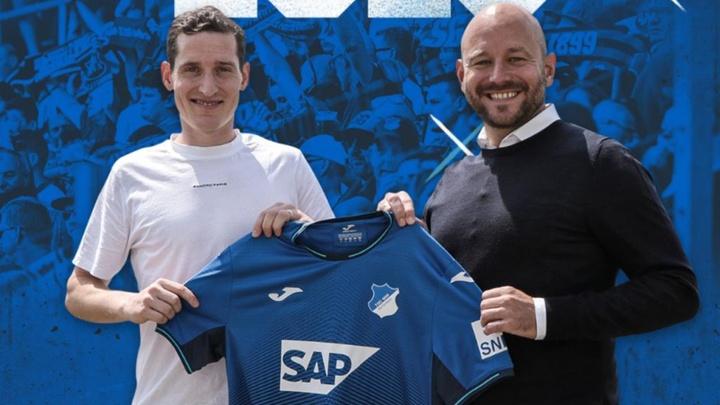 Sebastian Rudy firma tres años con el Hoffenheim. Captura/Twitter/SGHoffenheimEN