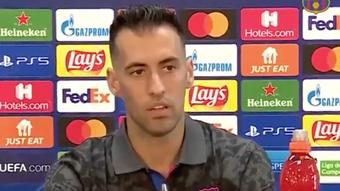 Sergio Busquets s'est exprimé en conférence de presse avant le match contre le Bayern. FCBarcelona