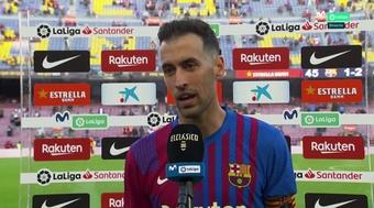 Busquets thought Barca were unlucky to lose. Screenshot/MovistarLaLiga