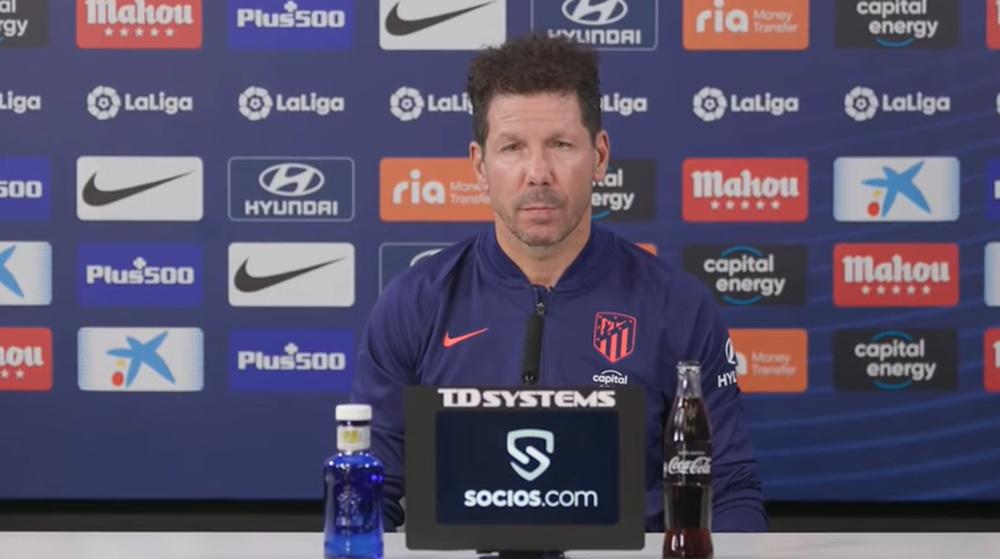 Simeone habló de Griezmann y Joao Félix. Captura/ClubAtléticodeMadrid