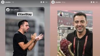 El Al Sadd quiere que Xavi se quede. Capturas/Instagram/alsaddsc