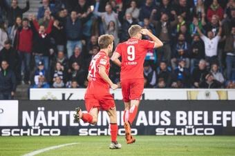 El gol le dio un descanso a Terodde. FCKöln