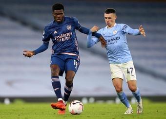 Thomas declaró estar al 100% para el Crystal Palace antes de jugar el duelo. AFP