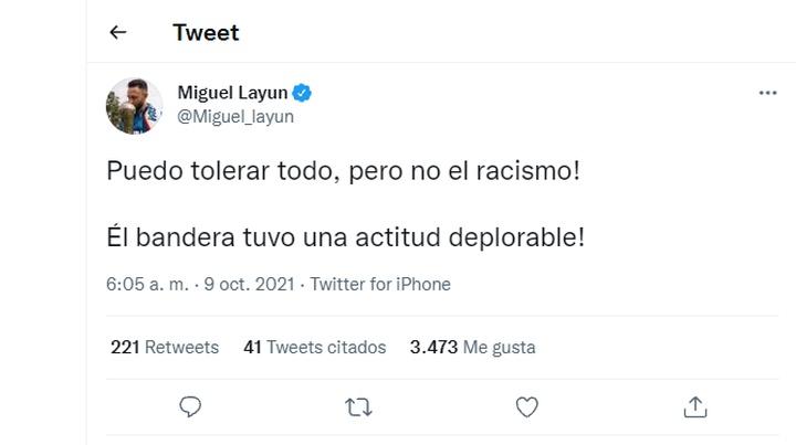 Layún acusó de racismo al linier. Captura/Twitter/Miguel_layun