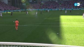 Gol contra de Pedri contra a Croácia. Captura/Telecinco