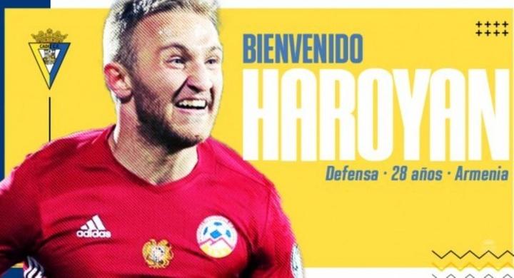 Varazdat Haroyan, nuevo jugador del Cádiz. Twitter/Cadiz_CF